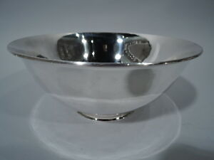 Arthur Stone Bowl Antique Arts Crafts Craftsman American Sterling Silver