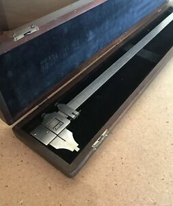 Starrett 122 Vernier Caliper In Case 24 Made In Usa