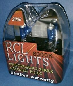White With Blue Tint 9006 Hb4 Xenon Halogen Hid Low Beam Headlights Bulbs 8000k