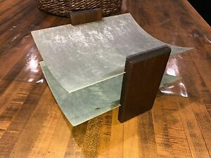 Vintage Brushed Aluminum 2 Tray Desk Organizer In out Double Letter