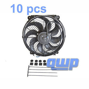 14 Inch Universal Slim Fan Push Pull Electric Radiator Cooling 12v Mount Kit