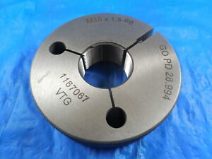 M30 X 1 5 6g Vermont Metric Thread Ring Gage 30 0 Go Only P d 28 994 Tools