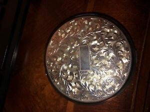 Vintage 950 Sterling Silver Foliate Scroll Decoration Powder Compact