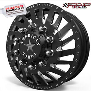 American Force Thrust 22 x8 25 Black Dually Wheel set Of 6 forged