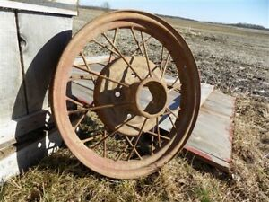 Ford Model A T Gum Dipped Firestone White Wall Tire Spoke Wheel Vintage Part T