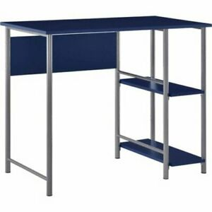 Garrett Metal Office Desk W 2 Side Shelves Multiple Colors Steel Home Office
