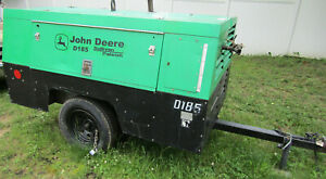 Sullivan Palatek 185 Cfm Air Compressor Portable Towable John Deere Twin Screw