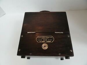 Vintage Weston Electrical Instrument Model 45 Dc Ammeter Amp Oak Case Nice