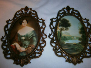 Vintage Oval Pictures Made In Italy