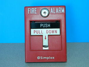 Simplex 4099 9002 Double Action Addressable Manual Fire Alarm Pull Station Alarm