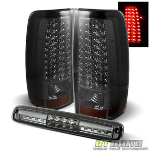 Smoked 1999 2002 Chevy Silverado 1500 Led Tail Lights Led 3rd Brake Cargo Lamp