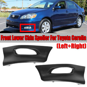 For Toyota Corolla 2005 2008 Front Bumper Body Kit Lower Lip Factory S Style