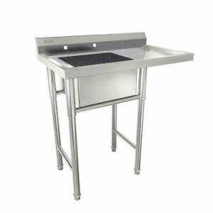 39 Commercial Stainless Steel Sink W Drainboard Heavy Duty Landry Sink Utility
