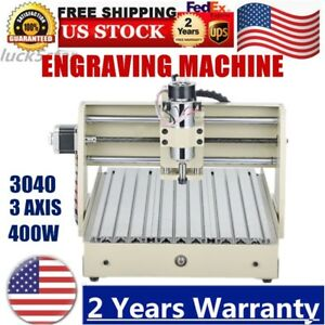 3 Axis Cnc 3040 T screw Router Engraver Engraving Cutter Desktop 3d Cutter 400w