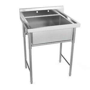 30 Stainless Steel Utility Commercial Square Kitchen Sink Large Capacity New