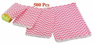 500pc Pink Flat Paper Gift Bags Pink Jewelry Gift Bags Chevron Pink Jewelry Bags