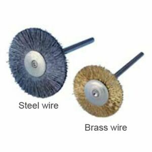 Buffalo Dental 3 4 Brass Wire Hp For Rotary Use Brush Lab Bur Cleaning 12 pk