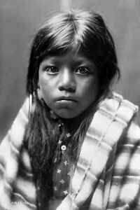 New 5x7 Native American Photo: Ah Chee Lo North American Indian Child - 1905 $3.99