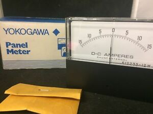 New Yokogawa Panel Meter Dc Amps 15 To 15 Model 612233 12w W 612230 w