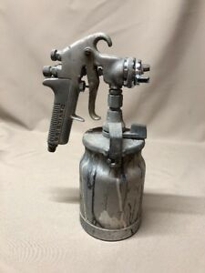 Vintage Devilbiss Jga 502 Spray Gun Model Type 80 Air Cap And Can
