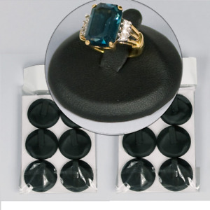 Black Ring Display Black Leatherette Jewelry Metal Base Ring Stand Showcase 48