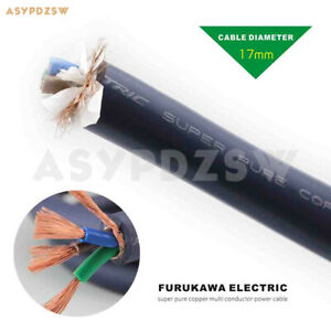 1m Hifi Furukawa Electric 99 999 Super Pure Copper Multi Conductor Power Cable