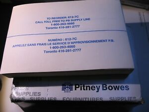 612 7c Pitney bowes Double Postage Tape Sheets Open Box Qty 1