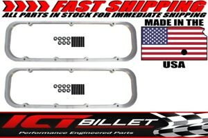 Bbc Big Block 3 4 Valve Cover Spacer Riser Tall 396 454 Chevy 551640 7