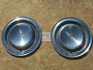 1963 1964 1965 Lincoln Continental 15 Wheel Covers Hubcaps Pair Of 2