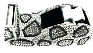 Snow Leopard Tape Dispenser 432 Jeweled Swarovski Crystals Rhinestones Desktop