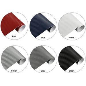 3d Car Carbon Fiber Vinyl Car Wrap Sheet Roll Film Sticker Decal Paper 12 60
