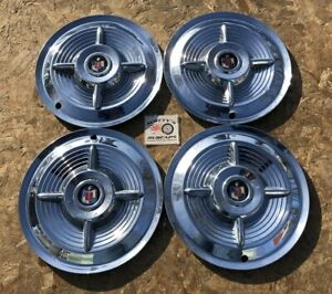 1956 Mercury Monterey Montclair 15 Spinner Wheel Covers Hubcaps Set Of 4