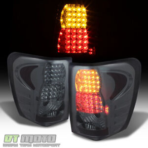 Smoke 1999 2004 Jeep Grand Cherokee Led Tail Lights Brake Signal Lamps 99 04 Set