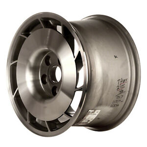 01347 10 Slot 16 Inch Left Directional Wheel Silver Machined With Painted Hub
