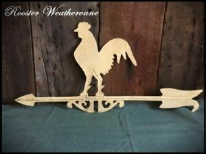Country Primitive Rooster Weathervane Metal Painted