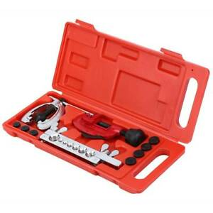 Automotive Brake Line Tube Cutter Double Flaring Tool Kit For 3 16 5 8 7 Dies