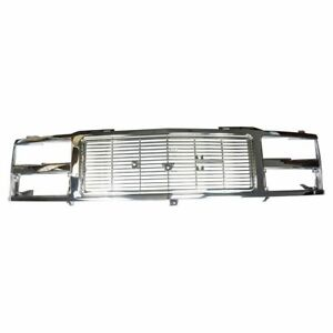 Chrome Grille Assembly For 88 93 Gmc C K Series Truck New