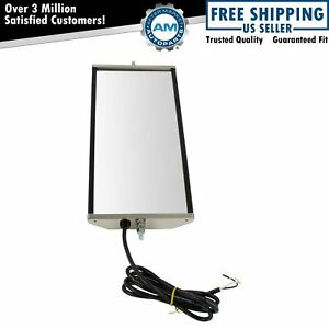 West Coast Mirror Heated 16x7 Stainless Steel Left Or Right For Heavy Duty Truck
