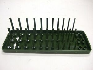 New Snap On 1 4 Socket Tray Ka143frcg Dark Green Sae Snap On Three Rows