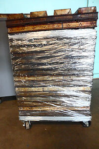 Lot Of 19 Heavy Duty Commercial eko glaco Loaf Baking Pans With A Dolly