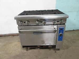 imperial H d Commercial Natural Gas 6 Burner Stove range W convection Oven