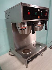 Curtis Gemini Commercial Dual Coffee Brewer W hot Water Spigot Air Funnels