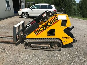 Boxer 532dx Mini skid Steer With Pallet Forks Bucket And Auger