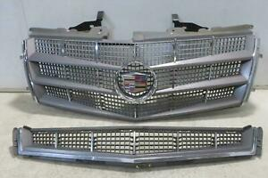 2009 Cadillac Cts Grille Set Base Upper Lower Oem