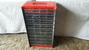 Vintage Metal plastic Top Bottom 40 Drawer Nut bolt Small Parts Storage Cabinet