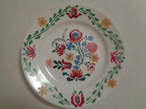 Shabby Chic Decor Floral 1950 S Hanging Decorative Plate Made In Hungary