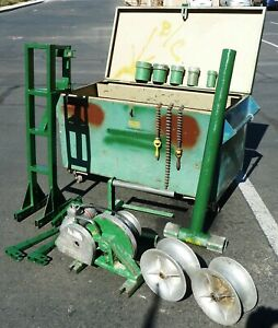 Greenlee 686 Cable Puller Tugger W 640 Motor 4000 lb Chest Good Condition