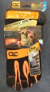 Clc Work Gear L205l Lighted Safety Work Gloves W 2 Light Modes Large New