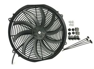 16 Slim Electric Radiator Fan Pusher Puller 120w High Power Motor 3200 Cfm New