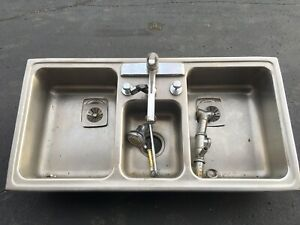 3 Bay Stainless Steel Sink Kitchen